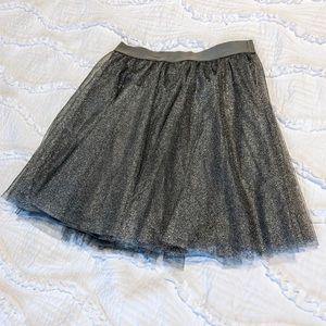 Lauren Conrad Silver Skirt Small